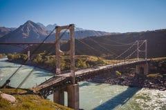 Das world& x27; Zweikettenhängebrücke s erstes Stockbild