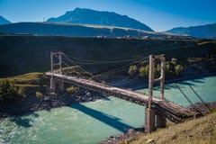 Das world& x27; Zweikettenhängebrücke s erstes Lizenzfreie Stockfotos