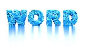 Das Wort Wort auf weißem Hintergrund Stockfotos