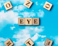Das Wort Auge lizenzfreies stockfoto