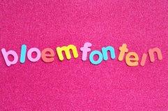 Das Wort Bloemfontein Lizenzfreie Stockfotografie