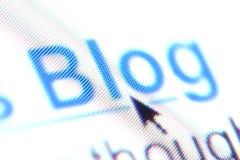 Das Wort ?Blog? als Hypertext-Link Stockbilder