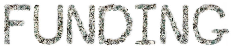 Finanzierung - quetschverbundene Rechnungen 100$ Lizenzfreies Stockbild
