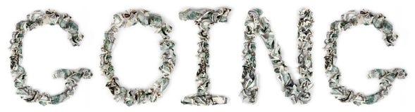 Gehen - quetschverbundene Rechnungen 100$ Stockbilder