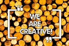 Das Wort, das Text sind uns schreibt, kreativ Geschäftskonzept für zum Haben viele ursprünglichen Ideen der Kreativität gut für E stock abbildung