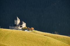 Das wunderbare Schloss des Museums Ladin Ciastel de Tor Stockfoto