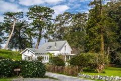 Das wunderliche Weiße Haus in Nord-Kalifornien lizenzfreies stockbild