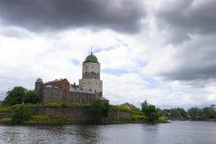 Das Wyborg-Schloss Stockfotografie