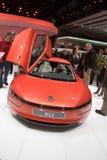 Volkswagen XL1 - Genf-Autoausstellung 2013 Stockfotografie