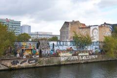 Das Yaam, der Verein, die Strand-Bar, die Galerie und der Ereignis-Raum in Berlin stockfoto