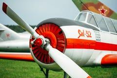 Das Yakovlev Yak-52 war ursprünglich als entworfen Stockfoto
