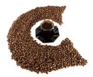 Das Zeichen c und Kaffee Stockbilder
