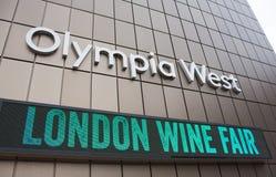 Das Zeichen der London-Weinmesse Stockfotografie