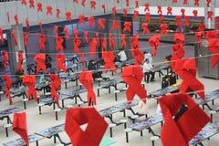 Das Zeichen des Welt-Aids-Tages lizenzfreie stockfotos