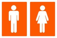 Das Zeichen für die Toilette Stockbild