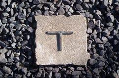 Das Zeichen T Stockbilder