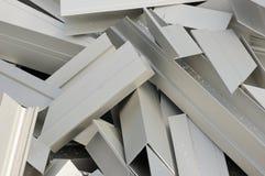 Das Zeichen wird von einigen kleine Aluminiumflocke gemacht Lizenzfreies Stockfoto