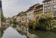 Das zentrale Teil von Straßburg Lizenzfreie Stockfotos
