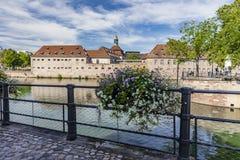 Das zentrale Teil von Straßburg lizenzfreies stockbild