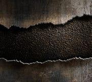 Das zerrissene Metall umrandet Hintergrund stockbild
