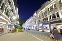 Das zhongshanlu gehende Straßenhandelsnachtsichtgerät, luftgetrockneter Ziegelstein rgb Lizenzfreies Stockbild