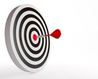 Das Ziel mit rotem Pfeil vektor abbildung