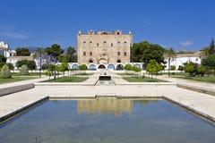 Das Zisa-Schloss in Palermo, Sizilien Italien Lizenzfreies Stockfoto