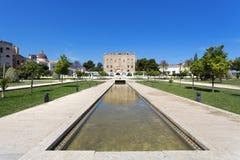 Das Zisa-Schloss in Palermo, Sizilien Italien Lizenzfreie Stockfotos