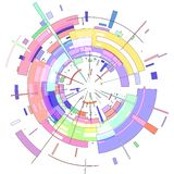 Das Zusammenfassung farbige Radial-Bild 3D lizenzfreie abbildung