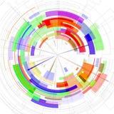 Das Zusammenfassung farbige Radial-Bild 3D vektor abbildung