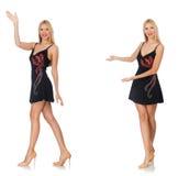 Das zusammengesetzte Foto der Frau in den verschiedenen Haltungen Stockfoto