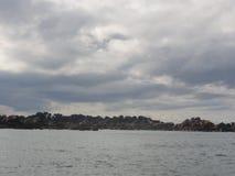Das Zusatz-oiseaux Ile, die kleine Insel des Golfs von Morbihan lizenzfreies stockfoto