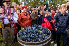 Das zweite ethnische Festival Bobovischenske Grono wurde in Zaka gehalten lizenzfreie stockfotos