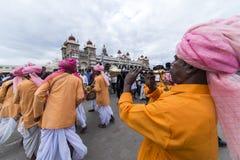 Dasara festival på Mysore Royaltyfri Fotografi