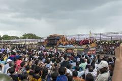 Dasara procession från slott Royaltyfri Fotografi