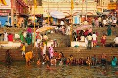 Dasaswamedh Ghat en Varanasi Imagen de archivo