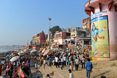 Dasaswamedh Ghat in Varanasi Stock Photo