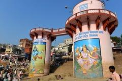 Dasaswamedh Ghat in Varanasi Stock Photography