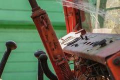 Dasboard vermelho velho do metal Foto de Stock Royalty Free
