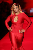 Dascha Polanco walks the runway at the Go Red For Women Red Dress Collection 2015 Stock Photo