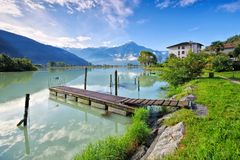Dascio on Lake Como, Lombardy Royalty Free Stock Images