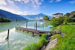 Dascio sul lago Como, Lombardia Immagini Stock Libere da Diritti
