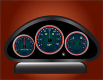 Dash board. Raster illustration file of a dash board Royalty Free Stock Photos