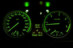 Dash board of a car Stock Photo
