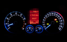 Dash board meters Royalty Free Stock Photos