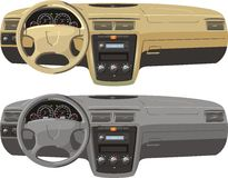 Dash boards. Tan and gray dash boards Royalty Free Stock Photo