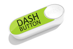 A dash button to order things Royalty Free Stock Photos