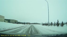 Cold Lake Alberta Main Street stock video