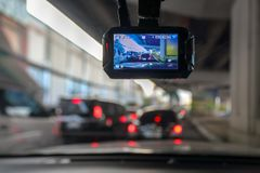 Free Dash Camera Or Car Video Recorder In Vehicle Royalty Free Stock Photo - 135670415