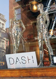 Dash clothing store. The dash clothing Store is a place to buy unique clothing and accessories items by the Kardashian sisters.The store is located in the soho royalty free stock image